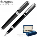 WATERMAN ÉDITION SPÉCIALE NIGHT & DAY NOIR ATTRIBUTS PLATINE ROLLER